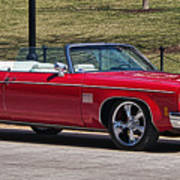 Oldsmobile Delta Royale 88 Red Convertible Art Print