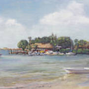 O' Leary's Tiki Bar And Grill On Sarasota Bayfront Art Print