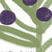 Olive Branch Hanukkah Card- Art By Linda Woods Art Print