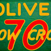 Oliver 70 Row Crop Art Print