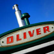 Oliver Tractor Nameplate Art Print