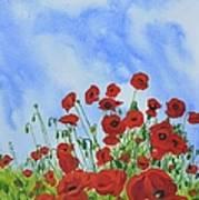 Olivia's Poppies Art Print