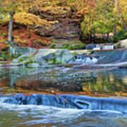 Olmsted Waterfalls Art Print