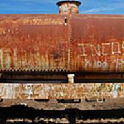 Ols Rusty Container Train Wagon Art Print