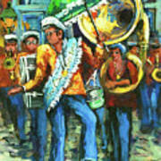 Olympia Brass Band Art Print by Dianne Parks