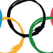 Olympic Ensos Art Print