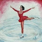Olympic Figure Skater Art Print