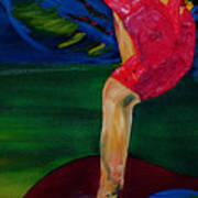 Olympic Gymnast Nastia Liukin  Art Print by Gregory Allen Page