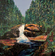Olympic Park Waterfall Art Print