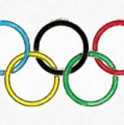 Olympic Rings Pencil Art Print
