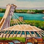 Olympic Stadium  Montreal Art Print