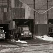 Olyphant Pa Coal Breaker Loading Trucks And Gondola Car Winter 1971 Art Print