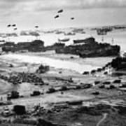 Omaha Beach Resupply - Normandy Invasion - 1944 Art Print