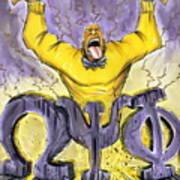 Omega Psi Phi Fraternity Inc Art Print by Tu-Kwon Thomas
