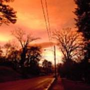 Ominous Orange Skies 1 Art Print