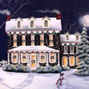 On A Cold Winter Evening Art Print