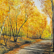 On Golden Road Art Print