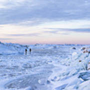 On Lake Michigan Ice Art Print