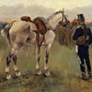 On Patrol In The Country Art Print