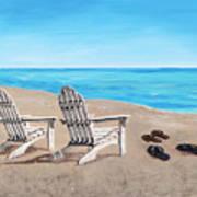 On The Shore Art Print