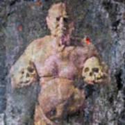 On The Altar Of Skull Carson #3. A Self-portrait, 2016 Art Print