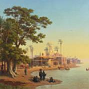 On The Banks Of The Nile Art Print