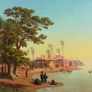 On The Banks Of The Nile Art Print