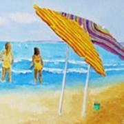 On The Beach Art Print