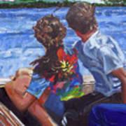 On The Boat Art Print