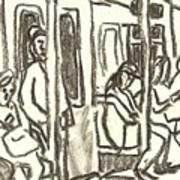 On The C Train, Nyc Art Print
