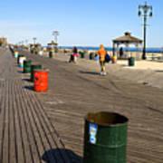 On The Coney Island Boardwalk Art Print