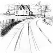On The County Line Art Print
