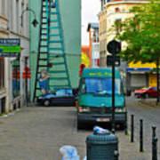 On The Ladder Art Print
