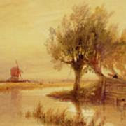 On The Norfolk Broads Art Print