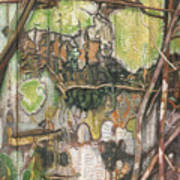 On The Outer - Tree Trunk Extracts - Section Detail II Art Print