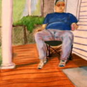On The Porch With Uncle Pervy Art Print