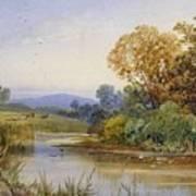 On The River Parret Art Print