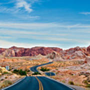 On The Road - Valley Of Fire Art Print