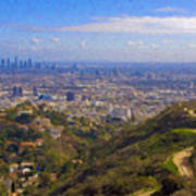 On The Road To Oz La Skyline Runyon Canyon Hiking Trail Art Print