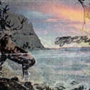 On The Rocks. Art Print