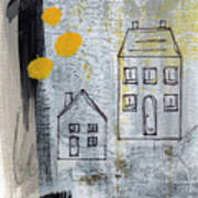 On The Same Street Art Print by Linda Woods