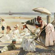 On The Shores Of Bognor Regis Art Print by Alexander M Rossi