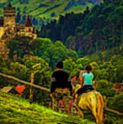 On The Way To Bran Castle Art Print