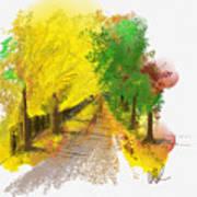 On The Yellow Road Art Print