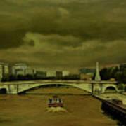 Oncoming Storm Paris France Art Print