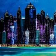 One City Night 9 Art Print