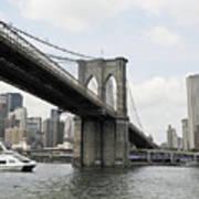 One Day At Brooklyn Bridge Art Print
