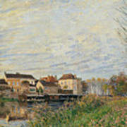 One Evening At Moret End Of October Art Print