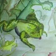 One Frog Art Print