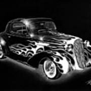 One Hot 1936 Chevrolet Coupe Art Print